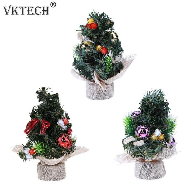 20cm mini christmas tree ornament home office desk table christmas decoration tree gold red purple
