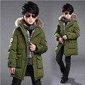 Chaqueta de invierno de los niños escudo niños prendas de abrigo con capucha larga caliente de espesor niños abrigos parkas abrigo de esquí infantil para los adolescentes
