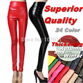 High Quality autumn winter lady pants women Fashion thickening Elastic PU Leather Trousers leggings With velvet drop ship