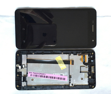 Full LCD Display Panel Touch Screen Digitizer Assembly Replacement Parts with Bezel Frame For Asus Zenfone 5 LITE A502CG T00K