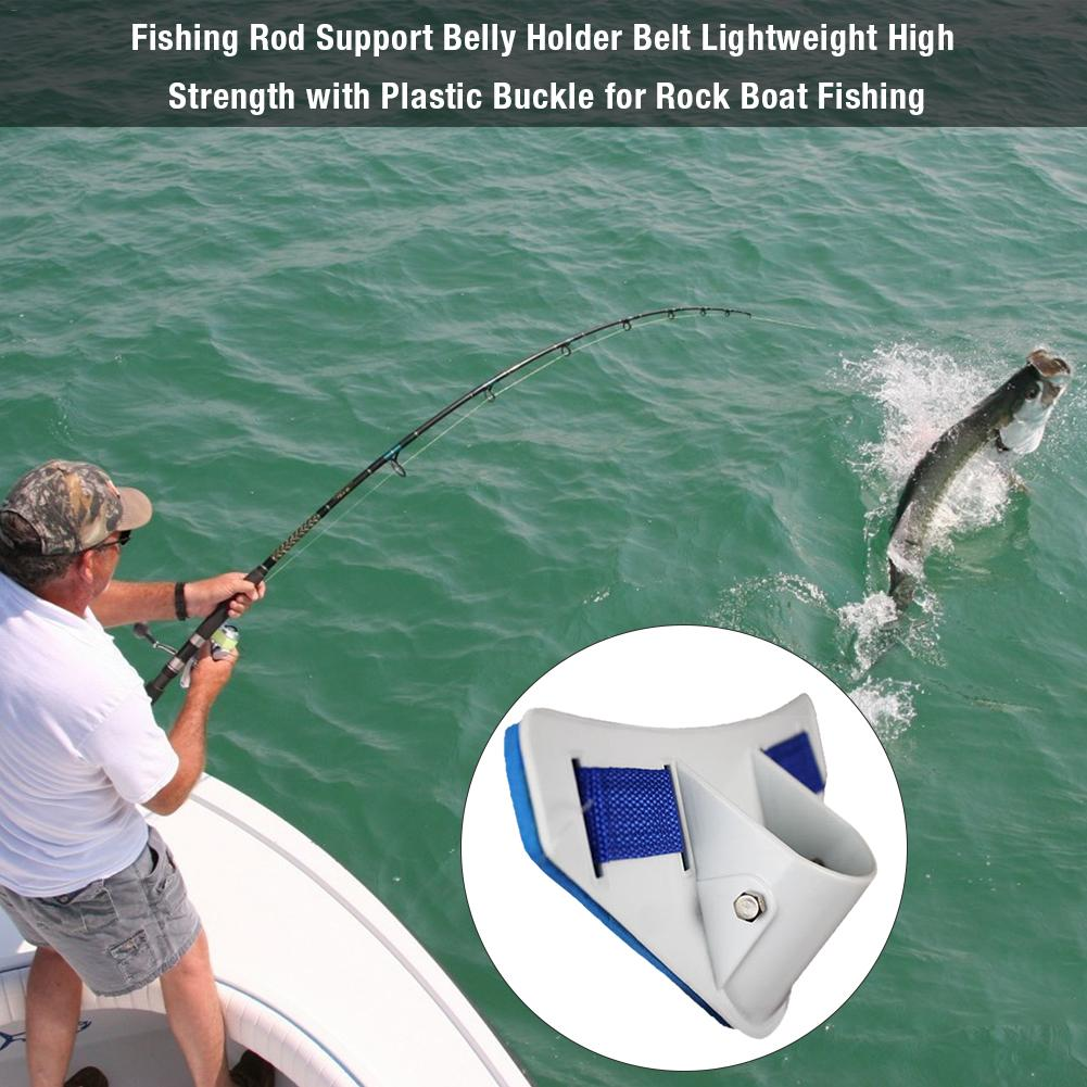 New Fishing Rod Support Belly Holder Belt Lightweight High Strength With Plastic Buckle For Rock Boat Fishing Accessories