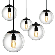 Glas Pendelleuchten Lampe Ball Bar Kaffee Wohnzimmer Klarglas Anhnger Glaskugel