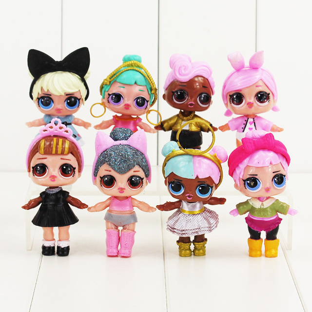 Adorable Little Girl Playing With Beach Toys During: 8pcs/lot 7 8cm Girls Playing House Doll Action Figure Toys