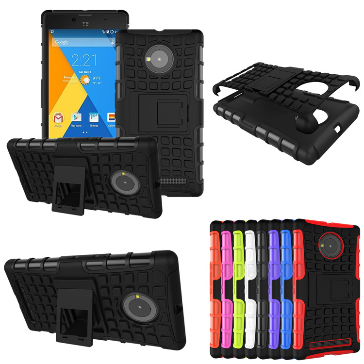 100pcs/lot.Heavy Duty TPU Durable Case Cover Built-in Stand for micromax yu yuphoria, free shipping by DHL ups FedEx