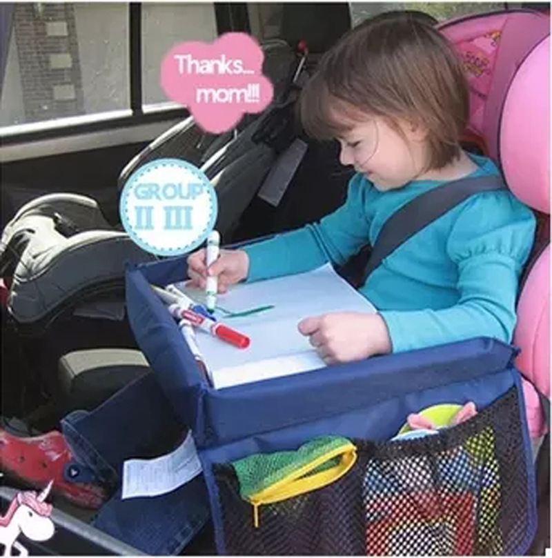 car styling high quality waterproof table car seat tray storage kids toys infant stroller holder for