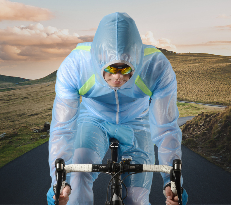 Outdoor Sport Cycling Raincoat Women Men Bikes Riding Rain Coat Pants chubasqueros impermeables hombre transparent capa