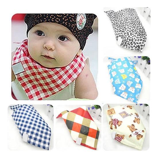 2017 Newborn Baby Girl Boy Infant Cotton Burp Cloth Bandana Wholesale Bibs Saliva Towel Triangle Kerchief Burp Children Feeding