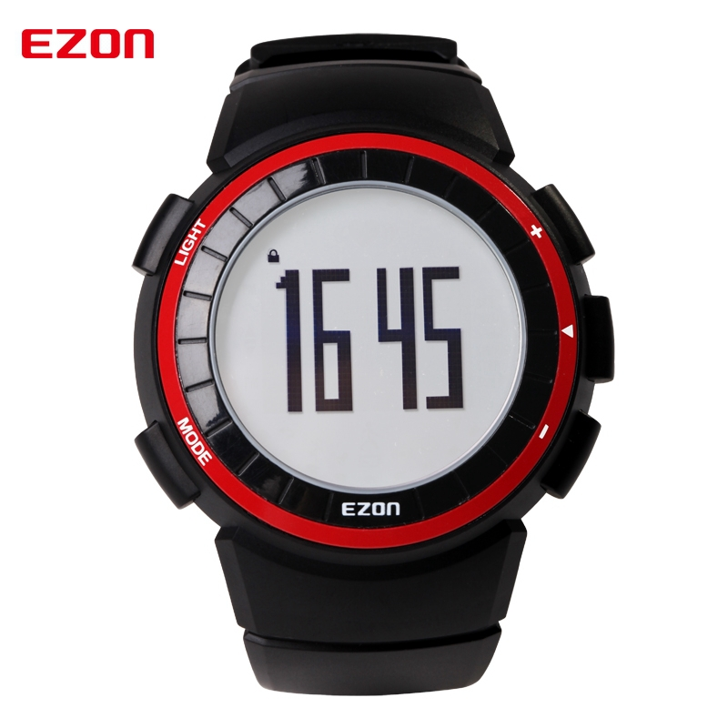 EZON T029 Multifunctional Sports Watch Pedometer Calorie Counter Stopwatch Running Digital Watches Fitness Mens Wristwatches high quality multifunctional gps running sports watch 5atm waterproof pedometer calorie counter digital watch ezon t031a03
