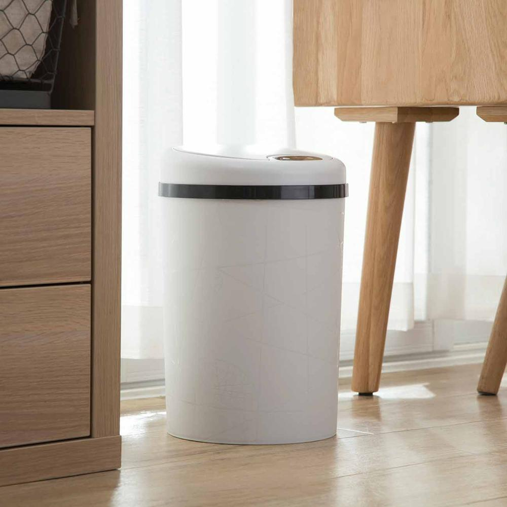 Image 4 - Large Automatic Sensor Dustbin Sensor Trash Can Induction Waste  Bin PP Plastic Eco friendly Dustbin Household Trash BinWaste Bins   -