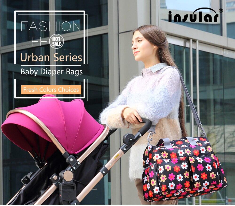New Mummy Baby Diaper Bag Shoulder Handbag Colorful Stroller Bag Multi-functional 5 Color Messenger Bag Waterproof 1 Pc