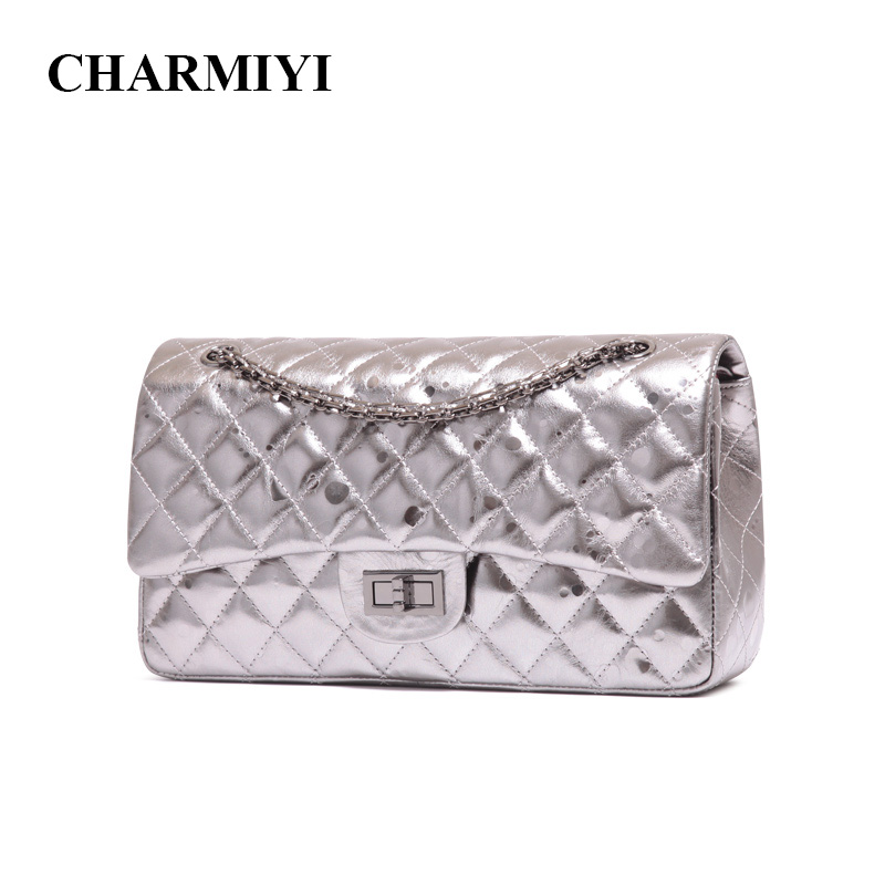 CHARMIYI Designer Genuine Leather Women Shoulder bag Vintage Cover Messenger Bag Ladies Chain Crossbody Bag Bolsas Femininas женские блузки и рубашки hi holiday roupas femininas blusa blusas femininas