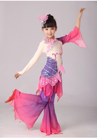 Tao Li Cup fan dance classical dance love lotus said children dance costumes national costume stage female