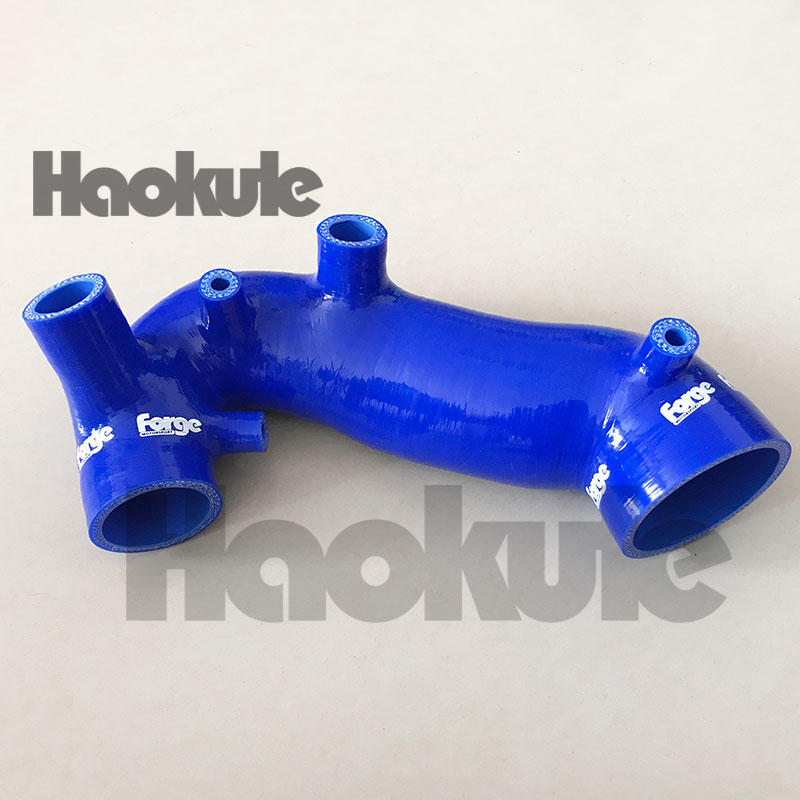Performance Turbo Silicone Induction Air Intake Inlet Hose FOR Audi A4 Passat B6 B7 1.8T BLUE