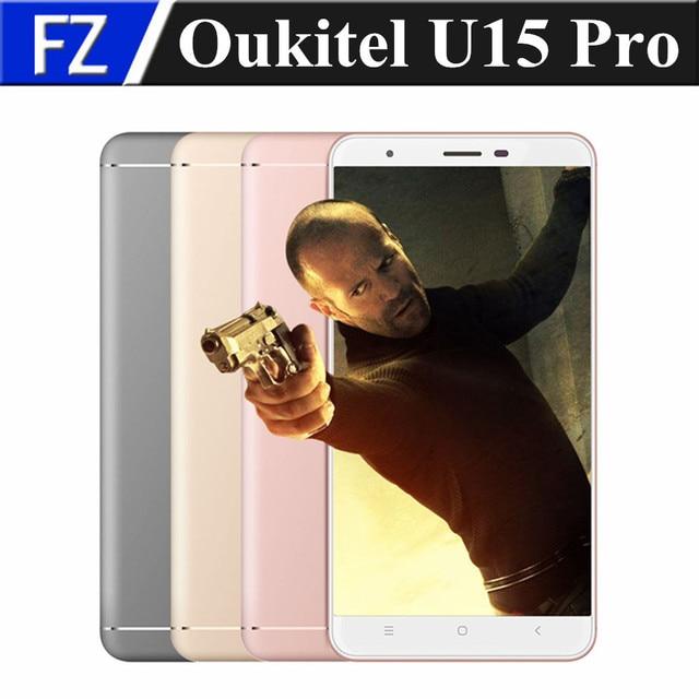 """Original 5.5"""" HD Oukitel U15 PRO 4G LTE smartphone Android 6.0 MTK6753 octa core 16MP 3gb ram 32gb rom dual sim OTG fingerprint"""