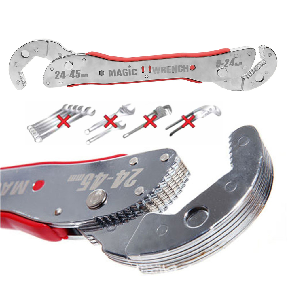 Onnfang Bulk Price adjustable magic wrench Multi-function wrench tool Universal wrench home Hand tool 9 to 45 mm Free Shipping magic price