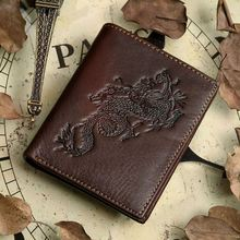 Nesitu Vintage Top Quality genuine leather men s wallet cowhide vintage male purse removable driver license