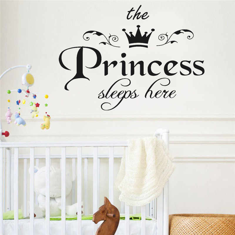 ISHOWTIENDA 45*32.5cm The Princess Decal Living Room Bedroom Vinyl Carving Wall Decal Sticker PVC Decorative Poster Home Decor