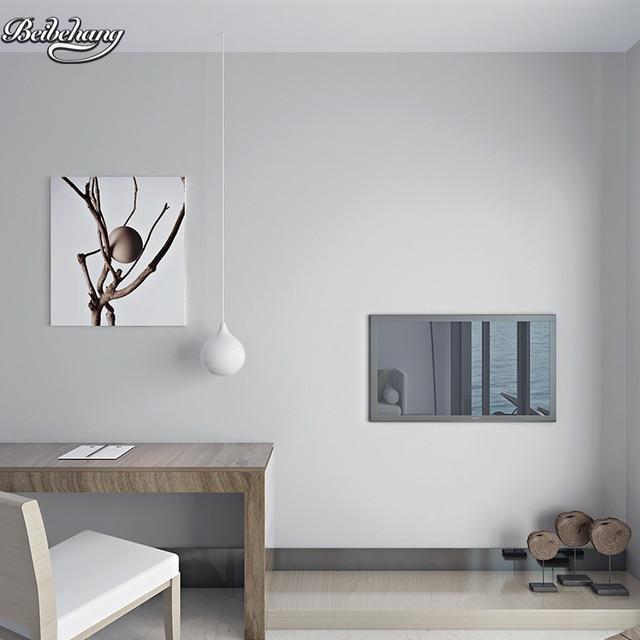 Beibehang Dark Gray Non Woven Long Fiber Wallpaper Pure Plain Living Room Bedroom TV