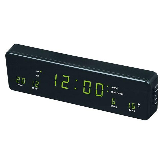 Led clock plug in led calendar rectangular led wall clock display led clock plug in led calendar rectangular led wall clock display blue light green light mozeypictures Gallery