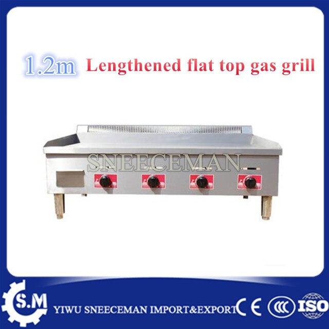 1 2m Flat Top Gas Grill Gas Grab Cake Machine Commercial Gas Tepp Ki Squid Machine Burner