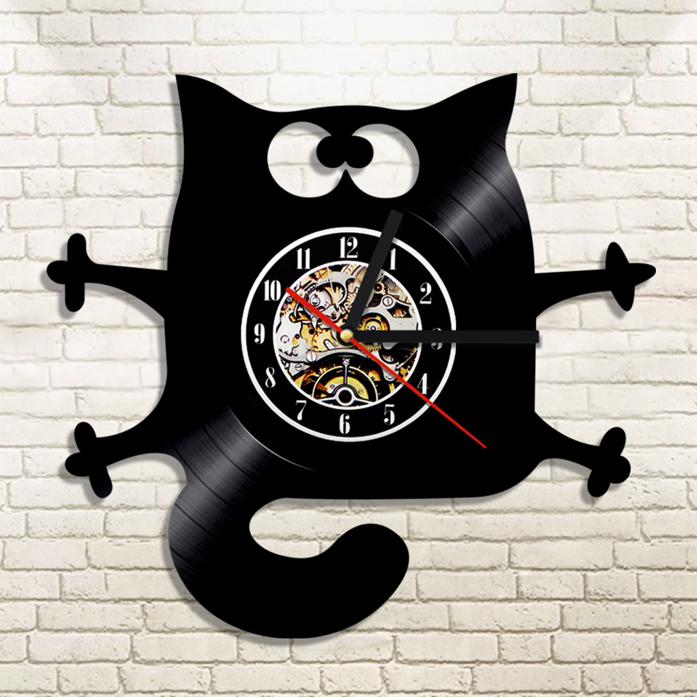 Buy kitty cat clock and get free shipping on aliexpress amipublicfo Gallery