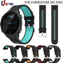 20 مللي متر ساعات سيليكون الفرقة حزام سوار ل Garmin Forerunner 245 245 متر 645 الذكية Watchband الرياضة استبدال معصمه Correa