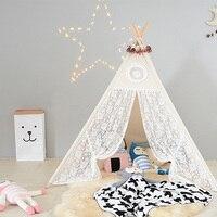 Crianças Brinquedo Barraca Do Laço Indiano Tipi Tenda Casa de Jogo Para Crianças de Lona Portátil Tenda Ao Ar Livre Indoor para As Meninas Do Quarto Do Bebê acccessory