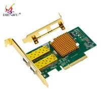 Скорость 10 gigabit pcie * 8 dual port SFP + волокно сетевая карта pci express lan rj45 rj 45 карты адаптера x520 82599ES/E10G42BTDA