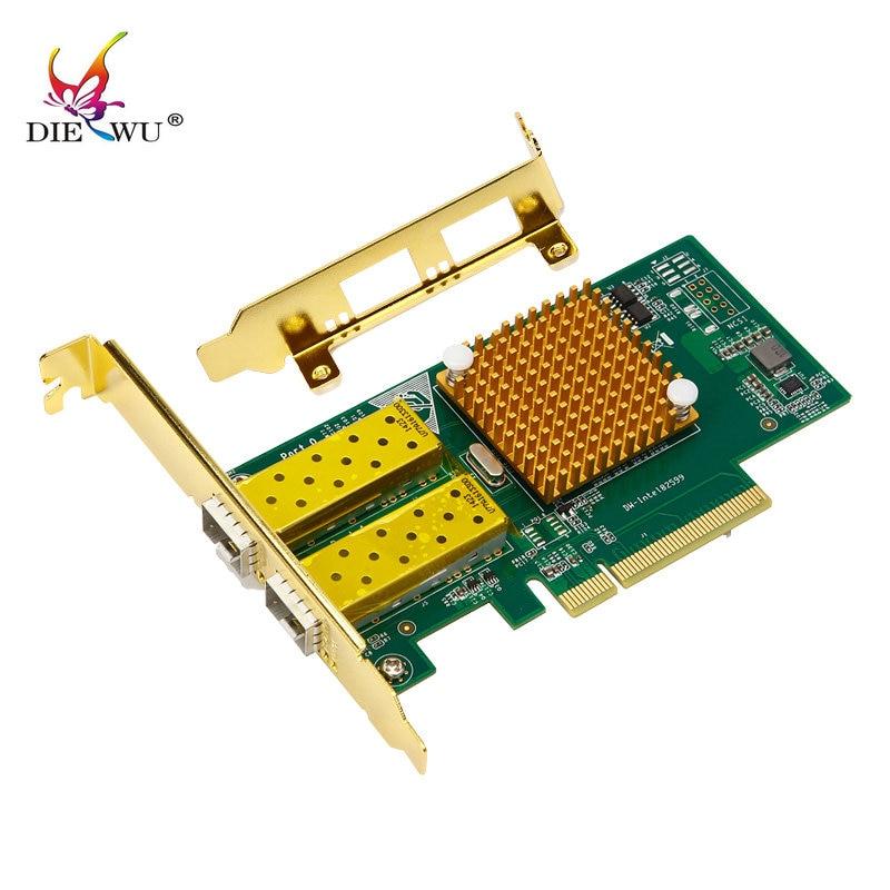 speed 10 gigabit pcie*8 dual port SFP+ fiber network card pci express lan rj45 rj-45 card adapter X520 82599ES/E10G42BTDA winyao e10g82599af sfp 10g dual port fiber sever network card adapter green