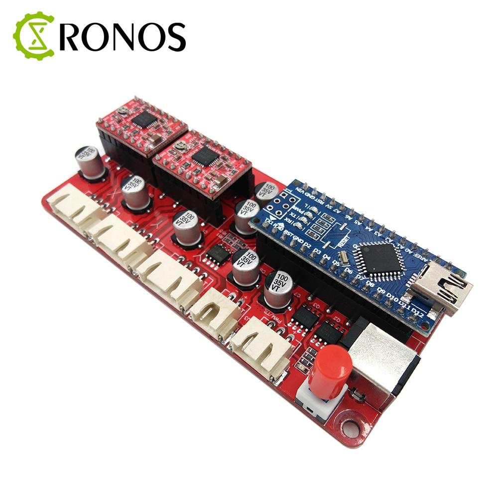 USB CNC 2 Axis Stepper Motor Controller Board Mainboard DIY Laser Engraver Engraving Machine Motherboard