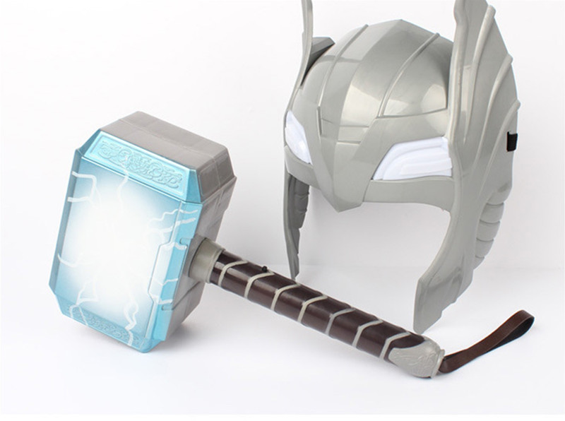Newest The Avengers Alliance LED Glowing And Sounding Thor's Hammer LED Mask Thor Action Figures Cosplay Kids Brinquedos Gift high quality the avengers thor cosplay hammer thor s hammer action figure super hero collection toy ems free shipping