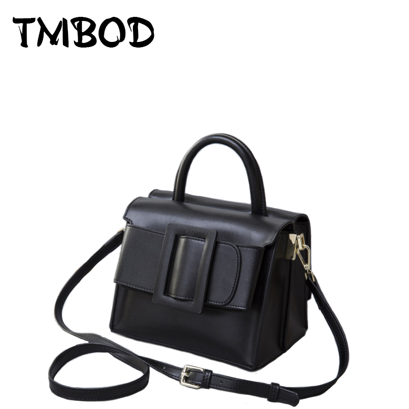 New 2017 Brand Fashion Buckle Design Classic Tote Women Split Leather Handbags For Female Messenger Bags Lady Bag an508