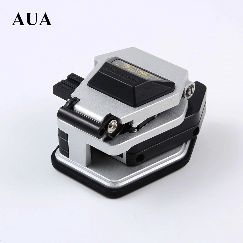 AUA SKL-80C High Precision Fiber Optic Cleaver Cold And Hot Melt Generic Cable Fiber Covered Wire cutter with 3 in 1 Fixture
