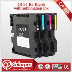 4PK kompatybilny wkład z atramentem dla Ricoh GC 31 dla Ricoh e2600 e3300 e3300N e3350N e5050N e5500 e5550N e7700 z atramentem sublimacyjnym