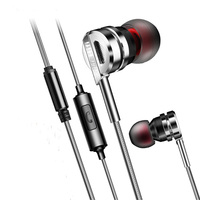 Brand HRH Earphone D05 HiFi Headset Metal Earbuds With Mic For Earpods Airpods