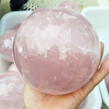 100mm diameter 100% natural pink rose crystal ball treatment wind water ball wholesale + free delivery