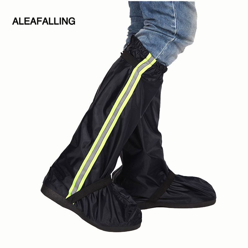 Aleafalling Cycling Shoes Cover Waterproof Windproof Rain Boots Black Reusable Shoe Covers Men Women Bike Overshoes Boot Shoes