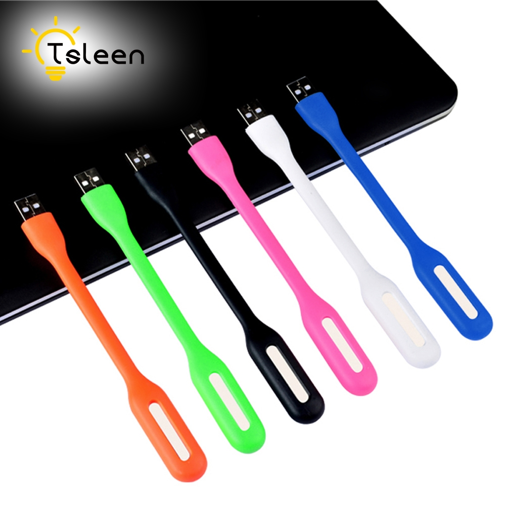 TSLEEN 1PC USB Flexible Portable Mini USB LED Light Lamp For Power Bank Notebook PC Laptop Computer Summer Gadget