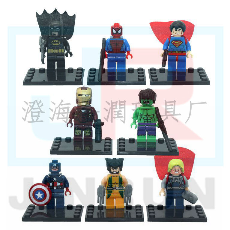2016 new the avengers marvel dc super heroes series 8 pcs set...