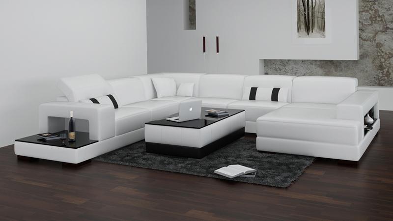 modernen schwarzen sofa-kaufen billigmodernen schwarzen sofa ... - Schwarz Wei Sofa