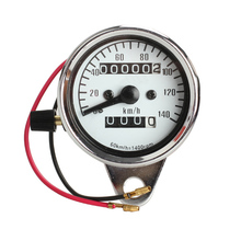 General Motorcycle Mini Electronic Speedometer with Odometer Night Light SWE#