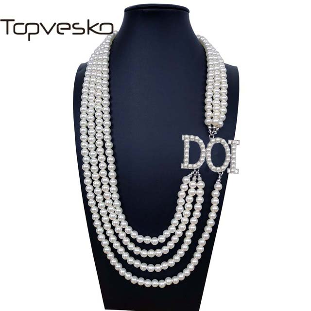 Shrine & Mason Products T30 Daughters of Isis DOI Daughter D.O.I. OES Sister Multilayer Statement  Pearl  Necklace Jewelry