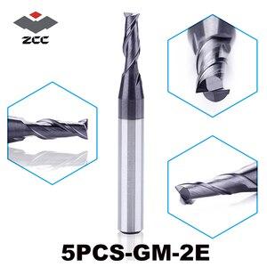 "Image 1 - 5 יח\חבילה גבוהה באיכות ZCC. CT GM 2E ביצרו קרביד cnc 2 טחנת קצה שטוחה חליל עם שוק ישר כרסום קאטר 1.0 6.0 מ""מ"