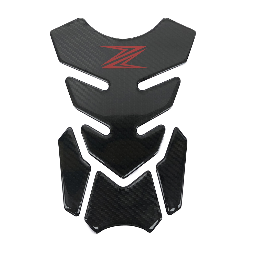 3D Carbon Look Motorcycle Sticker Gas Fuel Oil Tank Pad Protector  Case For Kawasaki Z250 Z300 Z400 Z650 Z750 Z800 Z900 Z1000