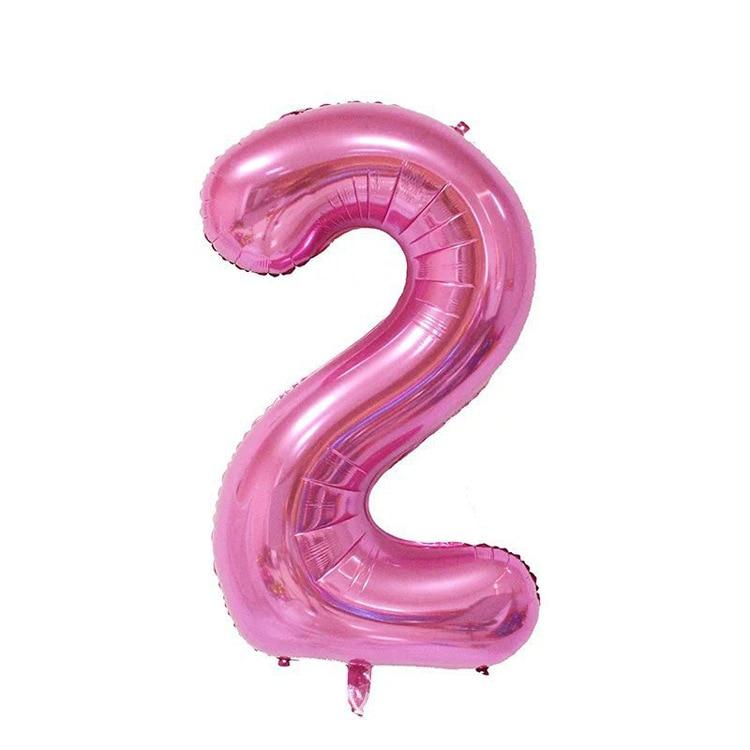 32 дюйма розовый синий 40 дюймов красный фольгированный шар большой гелиевый номер 0-9 Globo день рождения для детей Вечеринка мультфильм шляпа Декор - Цвет: pink 2