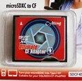 2 pcs NOVO TF MicroSD MicroSDXC de Tipo I Compact Flash CF Card Adapter Leitor Final, pacakge varejo