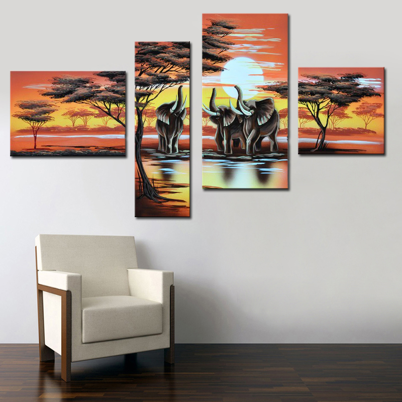 Online buy wholesale african elephant art from china African elephant home decor