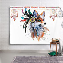 Cute Animals 3D Print Wall Hanging Tapestry 2018 Fashion Funny Cartoon Pattern Style Decorative Home Decor