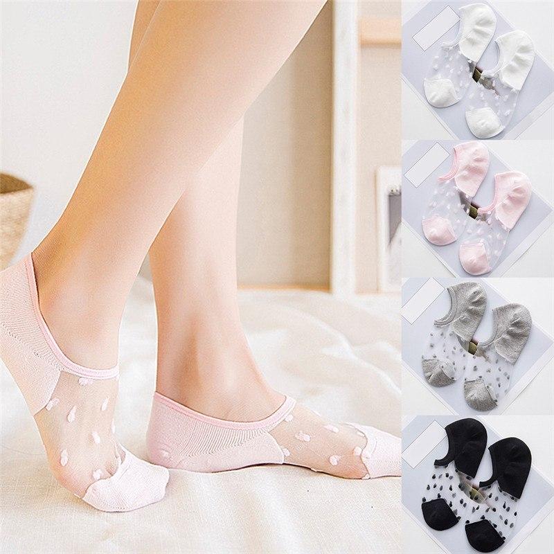 Women's Socks & Hosiery Sexy Lace Mesh Fishnet Socks Mixed Fiber Transparent Stretch Elasticity Ankle Net Yarn Thin Women Cool Socks 1pair=2pcs By Scientific Process