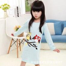 Design de mode Oiseau Bébé Filles Pyjama D'été Cool Enfants de Nuit Robe Chemise De Nuit Enfants Nuisette Robe Filles Princesse Vêtements